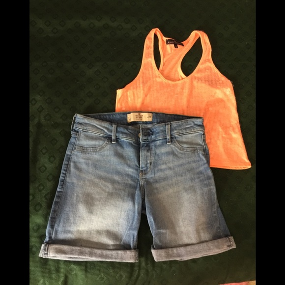 Hollister Pants - Hollister Shorts/Razorback Tank
